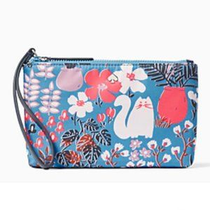"KATE SPADE ""Jae Garden Cat"" Kitty Wristlet"